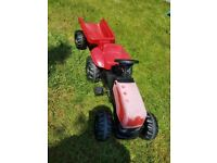 Kids childrens pedal tractor rideon