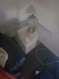 Macton stone side table