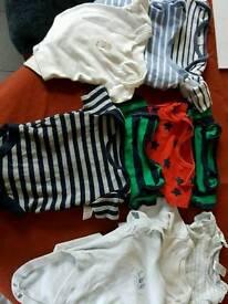 Baby Boys Bodysuits 0-3 Months