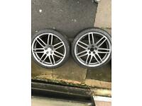 "4 Genuine 18"" A3 S3 Sline Black-edition Alloy Wheels"