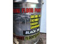 Floor paint. Black