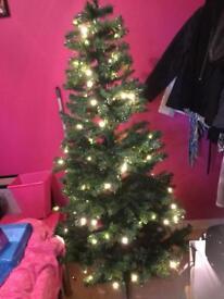 6ft pre lit Xmas tree