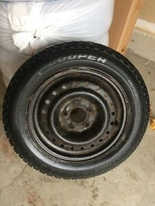 4 cooper winter tires mounted on rims Cambridge Kitchener Area image 1
