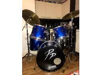 Performance percussion full size drum kit.
