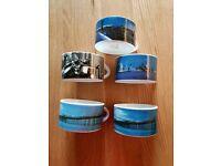 5 x British royal doulton airways cups