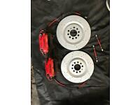 Leon cupra r brembo callipers discs pads, braided flexi's front and rear rebuilt