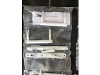 Trojan locking patio door handles - white or satin