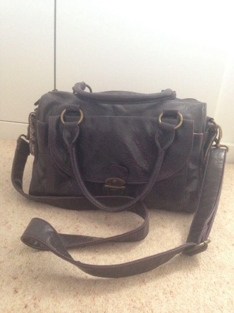 Clarks medium purple leather handbag