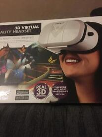 3D Virtual reality headset for most smartphones and iPhone brand new boxed