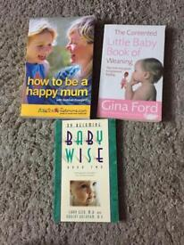 Various parenting books for sale