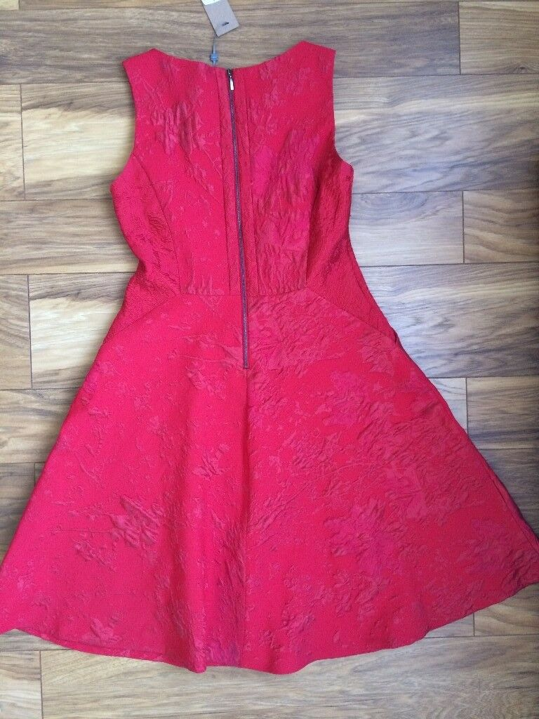 Red Dress - Phase Eight - Carmine gertie jacquard dress (size 14 ...