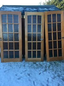 Hardwood glazed internal doors