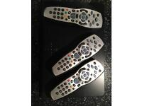 SKY TV and 3 Remote Controls