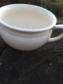 Two chamber pots would be ideal for using as pots in the garden