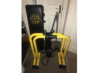 Dip bars and pull-up rings and sit-up bench £50