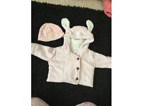 Baby girls next coat and hat