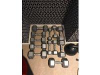 Body Power 5-17.5Kg Hex Dumbbell Set (6 Pairs)