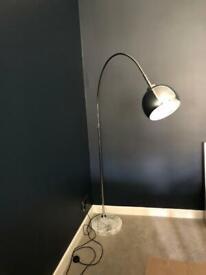 Designer chrome floor lamp