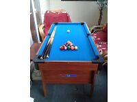 FREE 5ft foldable pool table.