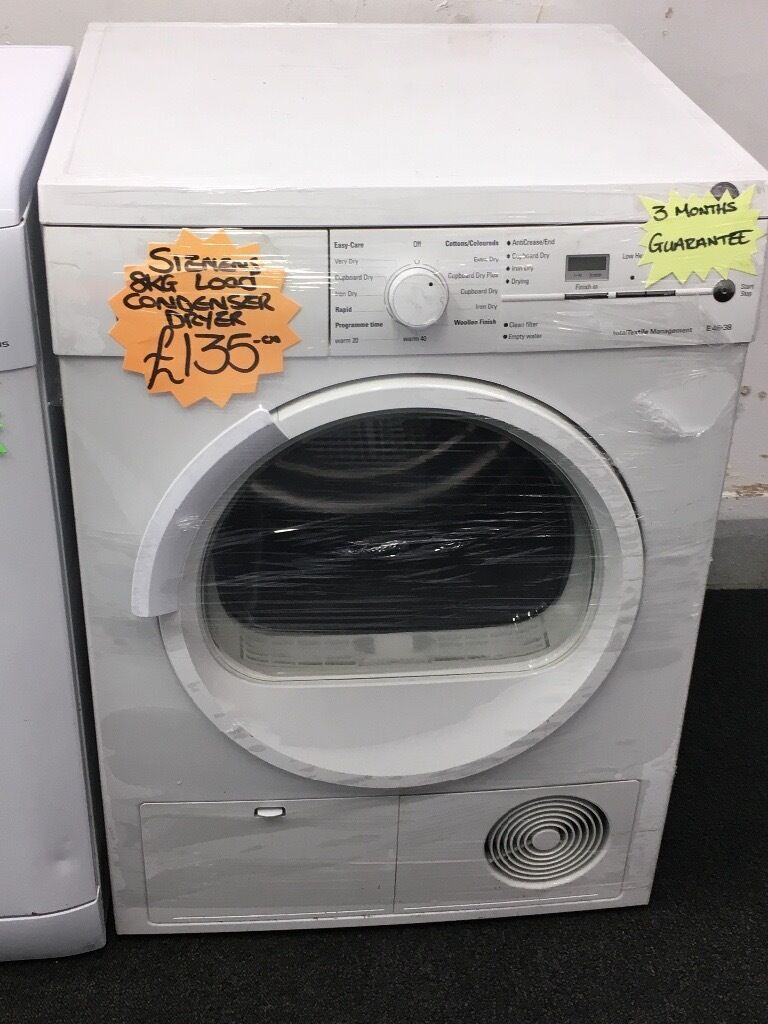 SIEMENS 8KG DIGITAL TIMER SCREEN CONDENSER TUMBLE DRYERin Rotherham, South YorkshireGumtree - Siemens 8kg condenser tumblr dryer • 8kg load • condenser dryer • no pipe needed • in white • reverse action • fully complete • graded product • a energy rating • guaranteed • delivery service available All our item and in perfect...