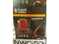 Russel hobbs canterbury red kettle free delivery local