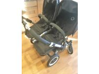 Bugaboo Donkey Duo(black) - very good condition including Maxi Cosi adaptor