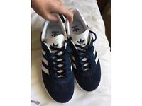 Adidas gazelle Navy trainers 5.5 new