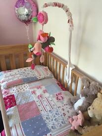 M&P wooden cot with mattress