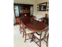 John E. Coyle - Unit and Table with 6 Chairs