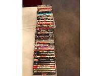 A bundle of 53 DVDs