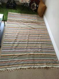 Gorgeous Hand Woven 100% wool Tunisian area rug, throw, or blanket
