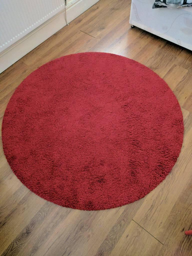 Ikea Round Red Rug