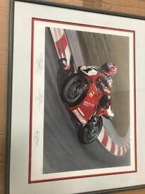 Carl fogarty (Ducati ) Framed picture