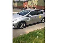Toyota Auris 1.6 petrol, including taxi plate