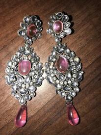 Baby pink earrings