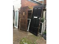 used wooden doors various sizes for free