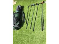 Mac Gregor golf bag and Donnay and Ping golf clubs