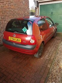 renault clio 1.2 l petrol manual firs time drive