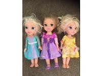 Set of 3 Disney dolls