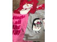 5 x Girls Christmas tops (3 years)