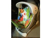 Fisher Price Animal print baby swinging chair.