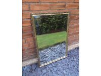 Solid Pine Gold Decorative Frame Living Room/Home Hanging Wall Mirror