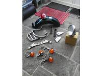Factory parts for Triumph Thunderbird 900, 1996.