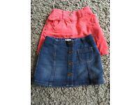 2 x Next Skirts Age 12-18 months