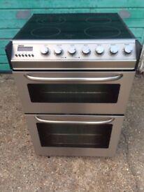 £126.86 Zanussi sls/Black ceramic electric cooker+60cm+3 months warranty for £126.86