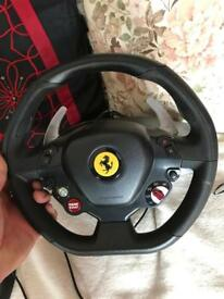 Xbox 360 Ferrari 458 RW Steering wheel and pedals