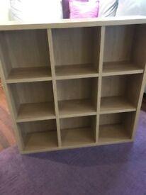 Oak wall mounted shelves
