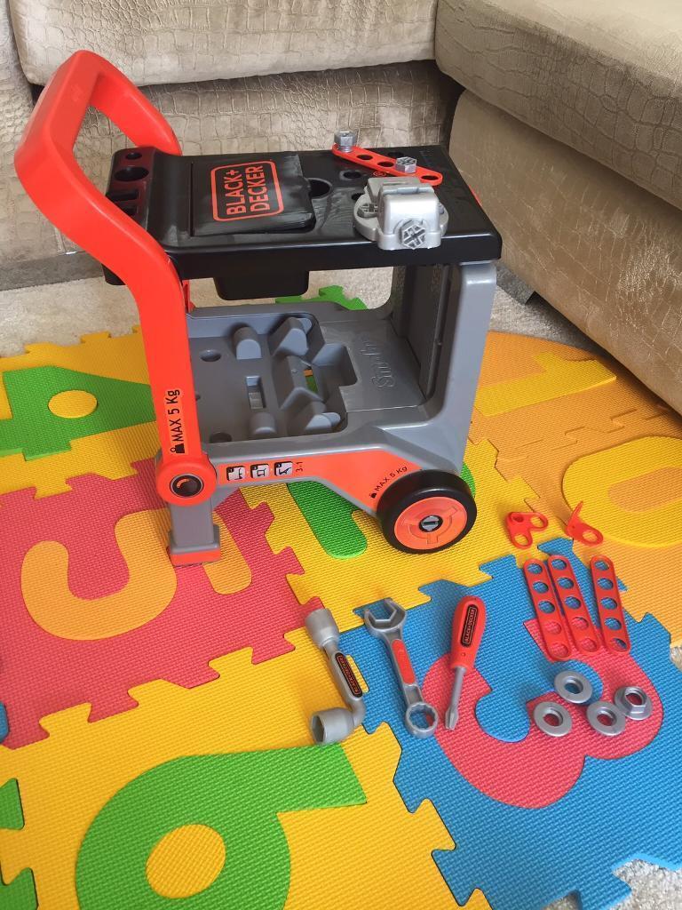 Black & Decker ToolBox and Push Along Bench