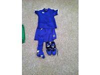 boys complete football kit