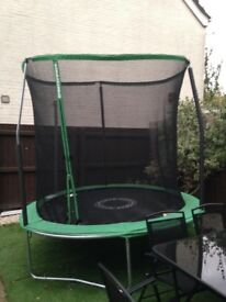 8ft enclosed trampoline
